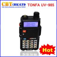 new walkie talkie TONFA UV-985  8 Watts dual band UHF/VHF 400-470MHz & 136-174MHz FM VOX DTMF ANI-ID two way radio CB Radio