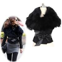 New Women's Faux Fur Vest Sunday Angora Yarns Coat Sleeveless Women's Outerwear Black free shipping