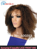 Stock Sunnymay Fashion Kinky Curly Lace Front Wig 100% Brazilian Human  Hair