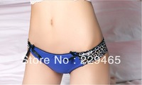 Ladies Sexy briefs women's small triangular fashion leopard Bikini briefs girls Lolita panties underwear 5 pc/lot women tight