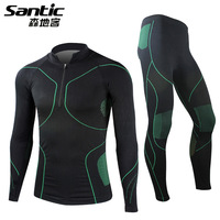 2013 Autumn-Winter Men Sport Suit Tight Thermal Underwear Men Thermo Cycling Jersey Hot Dry Deodorizer Sportswear Clothing Sets