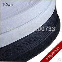 Free shipping 1.5cm nylon velcro tape  hook and loop velcro fastener 25m/roll
