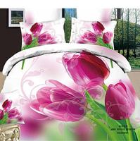 Reactive printed cotton canvas 3 d export red roses flowers bedding sets 4pcs/ Comforter set/bed sheet/ duvet bed