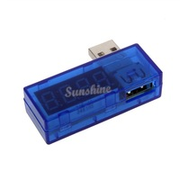 High quality New Portable Power Bank Tester Network Mini USB Current And Voltage Tester Blue B2 TK0794
