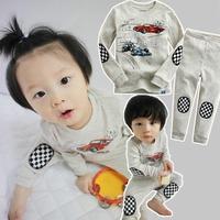 Autumn winter Kids Clothes Sets Cartoon Car Pyjamas Kids Baby Boy Clothing Cotton Conjuntos Boys pajamas set Pijamas Kids