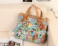 Guaranteed 100% Peking Opera Leather Women Handbags 2013 new hot sale Wholesale Free custom logo