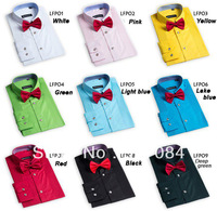 2013 Fashion Men's Tuxedo Shirt Groom Wedding Dress Shirt Long Sleeve For Men High Quality xl xxl xxxl Free Shipping
