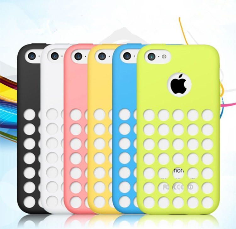 Original soft case for iphone 5c Fresh silicone cover for iphone5c i phone 5 c covers Good quality cases Free shipping(China (Mainland))
