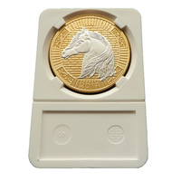 High quality 2014 Horse coins  10pcs/lot  free shipping  Brass with silver and gold plated Replica Souvenir coins