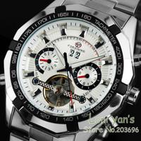New 2014 New Fashion Watch Stainless Steel Tourbillon Auto Mechanical Watches Mens Men's Wristwatch