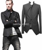 Best selling men's stylish blazers man coat Korean Designed outerwear casual suit 2014 autumn winter wear slim fit wool jacket