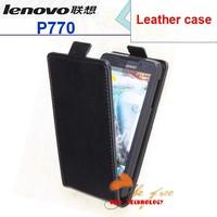 lenovo P770 Case  Genuine Filp Leather Cover Case for lenovo P770 case free shipping black in stock