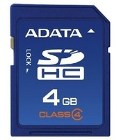 ADATA 4GB 8GB 16GB 32GB  SDHC Class 4 Memory Card  Flash Card For Digital Camera/Camcorder/Car Navigator Free Shipping