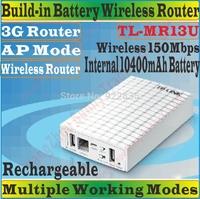 ChineseFirmware TP-Link TL MR13U Portable 10400mAh Battery Powered Wireless N150 Home Travel Beach Hotel WIFI 3G Router TL-MR13U