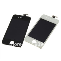 100% Quality guarantee LCD Screen & Front Glass Touch Screen Digitizer  Replacement complete kits for iPhone 4S White or black