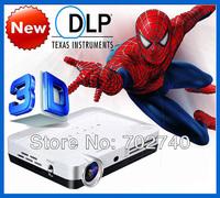New Technology Full HD 1280x800 Perfect shutter 3D Projector 3D Pocket Mini DLP 3D Led Projectors Free Shipping