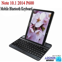Free Shipping Wireless Bluetooth Keyboard Stand Cover Case For Samsung GALAXY Note 10.1 2014 Edition P600 P601
