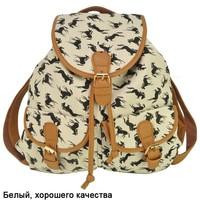 Free Shipping 2014 New Arrival Students Backpack Vintage Buckle Pocket School Rucksack  Animal Print Shoulder Bags QQ1712