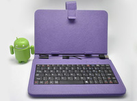 "Fashion 7"" tablet PC Keyboard Leather Case Micro USB Slot English Case Cover Protective Folding Case for tab"