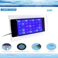Free shipping  Crystal   intelligent control 80W led aquarium lights for marine tank growing