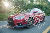 Free shipping 2008-2010 Mitsubishi Lancer Evolution EVO 10 X Varis Style Front Bumper Canards 4pcs