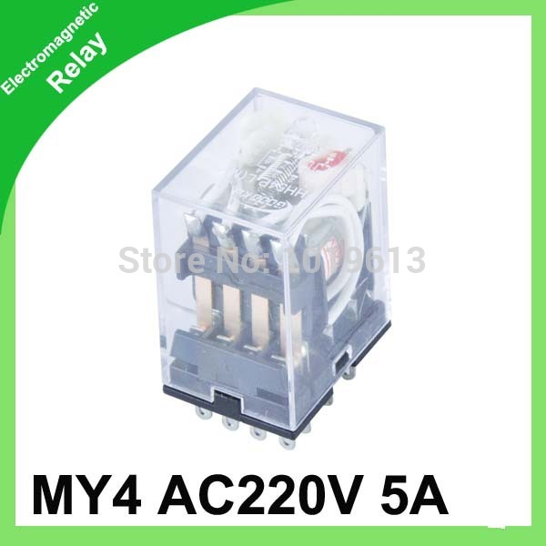 20pc/lot MY4 ac miniature electric relay General Purpose Relay,4pdt,14pins 220V(China (Mainland))
