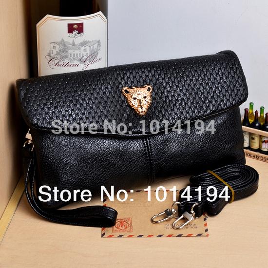 2015 new Fashion Punk One Shoulder Handbag Cross-Body Bag Change Women's Long Design Key Mobile Phone Day Clutch(China (Mainland))