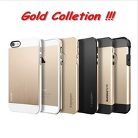 SGP Spigen Soil Hockin Champagne Gold Case For iPhone 5 5S 5G Bumblebee Linear Metal Neo Hybrid EX Slim S Tough Armor Saturn