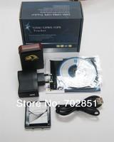 4pcs/lot free shipping TK102B GPS Tracker TF-card slot G-sensor Tri-Axis Controller Quad-band Long time standby gps tracker