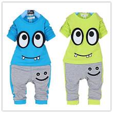 Baby boy clothing set kids spring clothes set baby children cotton long sleeve+pants set cartoon whimsy chothing ACTZ001(China (Mainland))