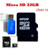 USB card reader free Real micro sd card 32 GB class 10 4gb 8gb 16GB class 10 microsd  TF Card  for Cell phone DVR