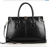 Genuine Leather Bags Cowhide Vintage Handbag women messenger bag leather handbags Women's Tassel Bag Shoulder Bags Free shipping