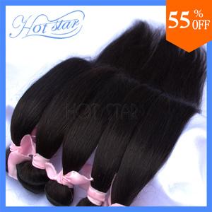 Brazilian virgin remy hair silky straight human hair with one bundle lace closure 1pcs 3pcs 4pcs lot mixed length products(China (Mainland))