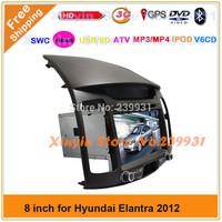 Free Shipping ! Hyundai Elantra 2012 Car DVD with GPS Radio Bluetooth IPOD SD USB Stereo system