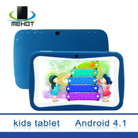 Brand New 7 inch Kids Tablet PC With Children Educational Apps Android 4.0 Capacitive Dual Camera WiFi Soft Back Cover 725