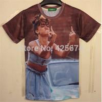 New arrival newest style hot model new made 3d t shirt men/women short sleeve cotton t-shirt summer tshirt W036