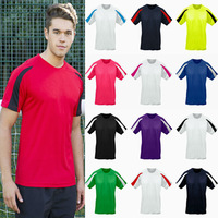 2014 T Shirt Men 100% Polyester Sport T Shirt Casual Men S-XXL Plus Size Short Sleeve Patchwork Gym Men T shirt  12 Colors