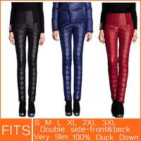 2014 Women Winter Pants Plus Velvet Thickening Slim Thermal Female Warm Trousers Legging High Waist Down Pants Christmas Gift