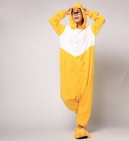 2013 Fashion adult pajamas Anime duck Cute Family Christmas Unisex  One Piece pajama Flannel pajama for Christmas gift