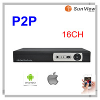 Free shipping SunView 16CH H.264 CCTV HDMI support security Standalone Digital Network DVR Recorder CCTV remote View