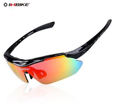 Brand New UV Proof Polarized 5 Lens 3 Colors Frame INBIKE Cycling Sunglasses Bike Bicycle Glasses Eyewear Goggle Glasses 619(China (Mainland))
