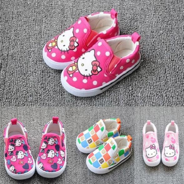 Nouvelle toile enfants 2014 été, sapatos pour enfant hello kitty filles princesse enfant fille espadrilles enfants chaussures de marque premier marcheurs