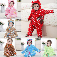 Free Shipping Carter newborn baby wear costume winter thickened clothing set long sleeve romper clothes boy jumpsuit