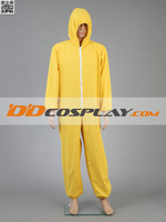 Free Shipping! Hot Sell! Breaking Bad Walter White Yellow Jumpsuit toxic hazmat suit Cosplay Costume