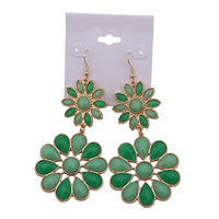 BigBing Fashion  fashion jewelry fashion crystal flower drop earring   free shipping Q425