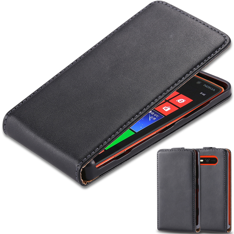 Hot! Luxury Genuine Leather Flip Case For Nokia Lumia 820 N820 Vertical Mobile Phone Bags & Cases Cover For For Nokia 820(China (Mainland))