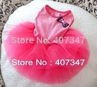 Wholesale 12pcs/lot Dog Tutu Skirt Green & Pink Mixed 4 Sizes Available Free Shipping
