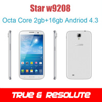 "Octa Core 2GB+16GB Andriod 4.3 6.3"" Star W9208 MTK6592 1.7GHz 1280*720 Dual Camera Dual SIM OTG Pad Phone"