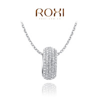 ROXI Christmas luxury simple pendant necklace genuine Austrian crystals platinum plated hand made fashion jewelry,2030024610