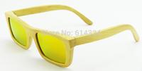 2015Free shipping gafas protection Natural Bamboo Polarized Lens bamboo women brand design overrsize men Sunglasses 6033